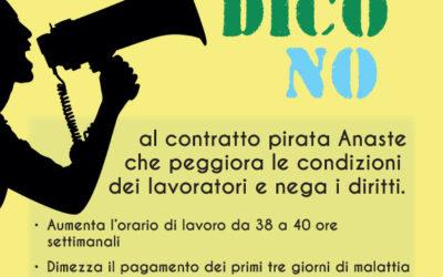 Io dico no al contratto pirata Anaste