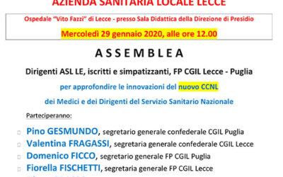 Assemblea per approfondire il nuovo CCNL