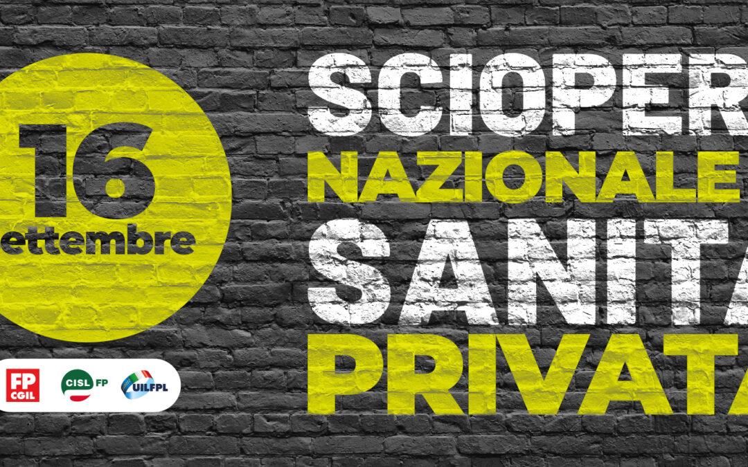 Sciopero nazionale sanità privata